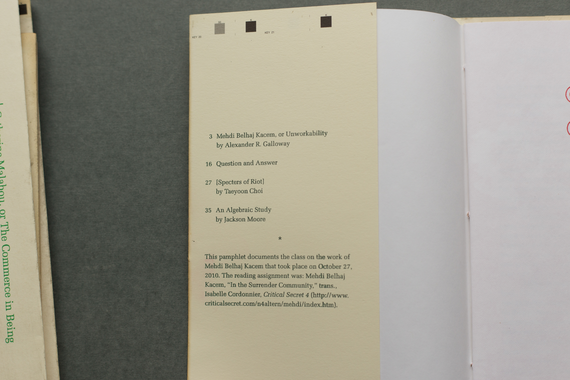 I Contributed To French Theory Today, A Zine By Alexander R Galloway In  2010 I Was A Steeringmittee Member Of The Public School New York When  We